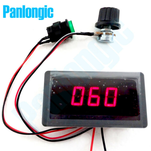 DC 6-30V 12V 24V 8A PWM Motor Speed Controller With Digital Display