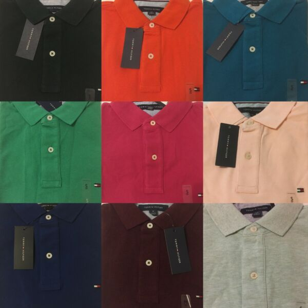 Tommy Hilfiger Polo Shirt Mens Classic Fit Mesh Knit Short Sleeve Casual $32.95