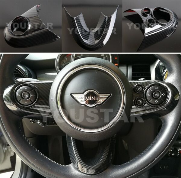 US STOCK CARBON Effect Steering Wheel Covers for MINI Cooper F54 F55 F56 F57 F60 $38.00