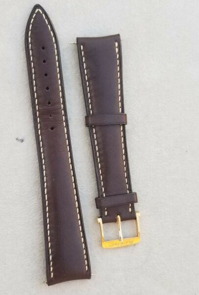 original Blancpain 20mm Brown Watch Strap & 18k rose gold tang buckle 16mm
