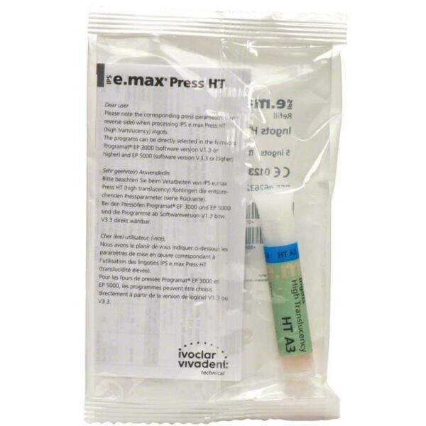 Ivoclar IPS Emax Press 5 Ingots HT-A3 e-max 626322