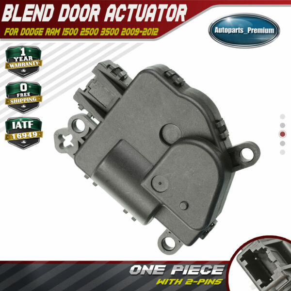 HVAC AC Heater Blend Air Door Actuator for Dodge 1500 2500 3500 Ram 2009-2012