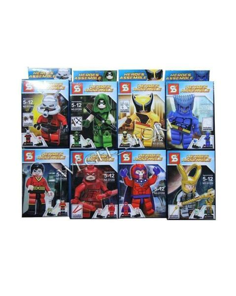 8 Sets/lots of Minifigures Building Toys Heroes Avengers ASSEMBLE Series