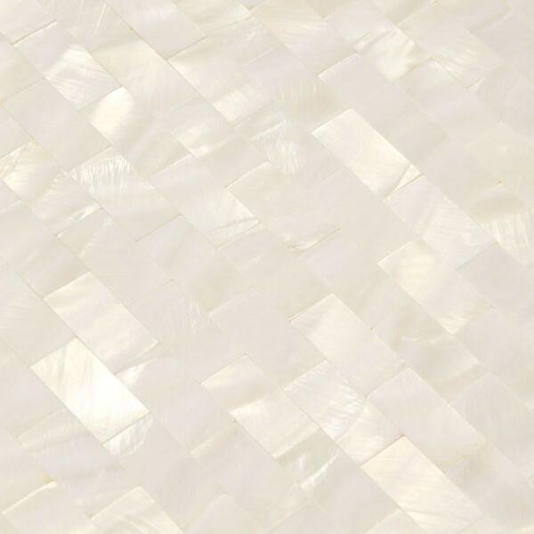 White Shell Mosaic Tile Mother of Pearl Tiles Backsplash Kitchen Subway( 11PCS)