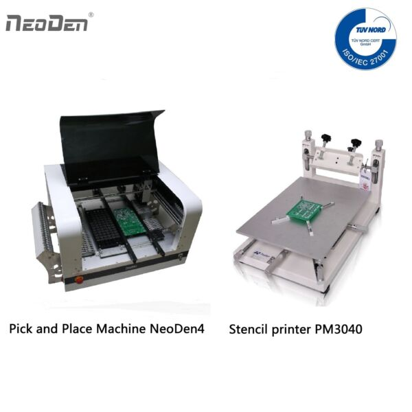 NeoDen4 Small Pick and Place Machine 2 Cameras 4 Heads 0201 BGA+Stencil Printer