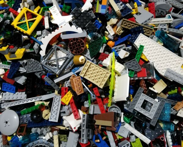 Lego Lot of 200 Pieces Parts Bricks Random From Huge Bulk Assorted Clean Pieces $12.59