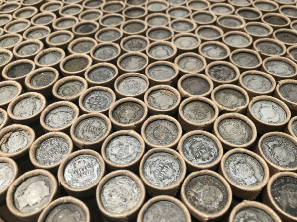 OLD ROLLS US COIN COLLECTION SILVER BULLION ESTATE SALE LIQUIDATION SMALL CENTS!