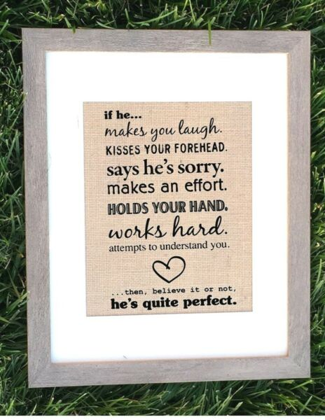 8quot;x10quot; Rustic Country Burlap Wedding Sign HAPPILY EVER AFTER