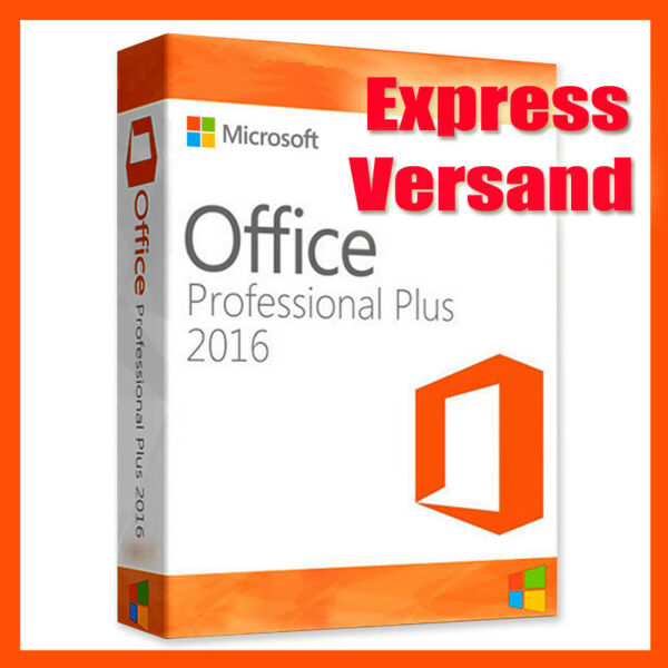 Microsoft Office 2016 Professional Plus Key MS Office Pro 32/64 Bit Vollversion