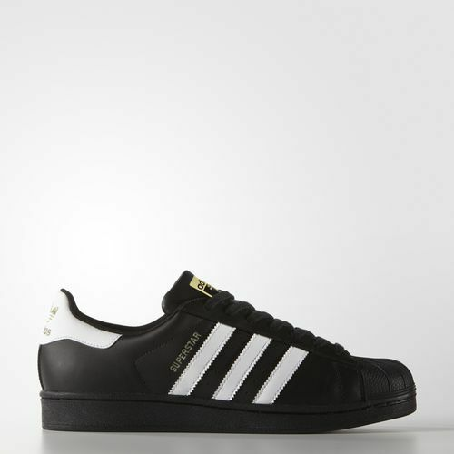 NEW MEN'S ADIDAS ORIGINALS SUPERSTAR SHOES  [B27140]  BLACK//WHITE-METALLIC GOLD