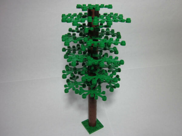 Custom tree for LEGO with tall trunk amp; 25 green leaves FREE shipping