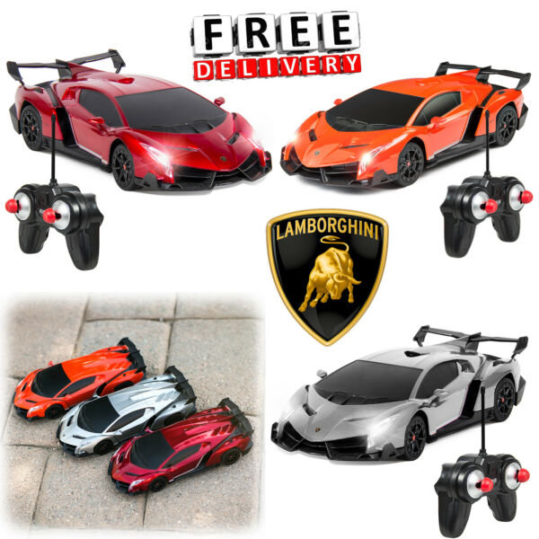 RC Sport Car Lamborghini Remote Control Racing Battery Headlight Kid Child Toy