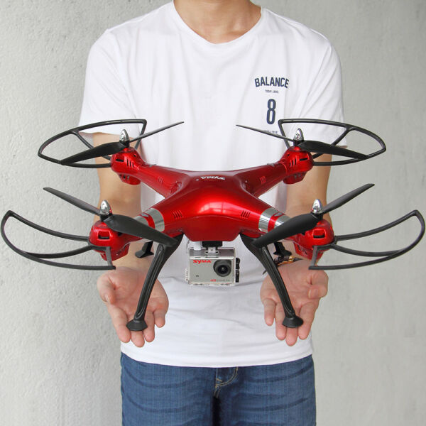 3 Batteries Syma X8HG Altitude Hold 2.4G RC Quadcpter HD 8MP HD Camera Drone US