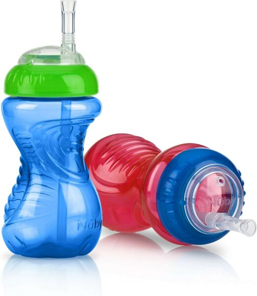 Nuby® No Spill™  Clik-it™ Cup with FlexStraw™  Toddler Straw Sippy Cup