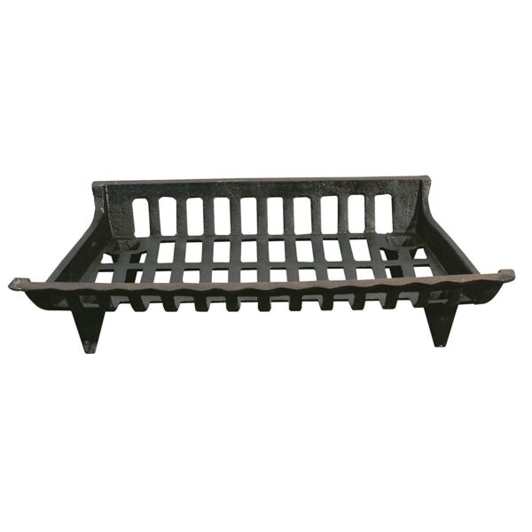 24in Black Cast Iron Fire Grate Place Wood Log Coal Holder Home Cabin Hearth New
