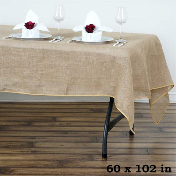 Natural BURLAP 60x102quot; Rectangle TABLECLOTH Country Wedding Party Catering Linen