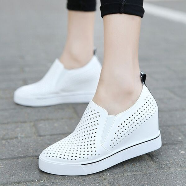 Womens Fashion Breathable Wedge Heels Sneakers Summer Sports Casual Shoes 5-8
