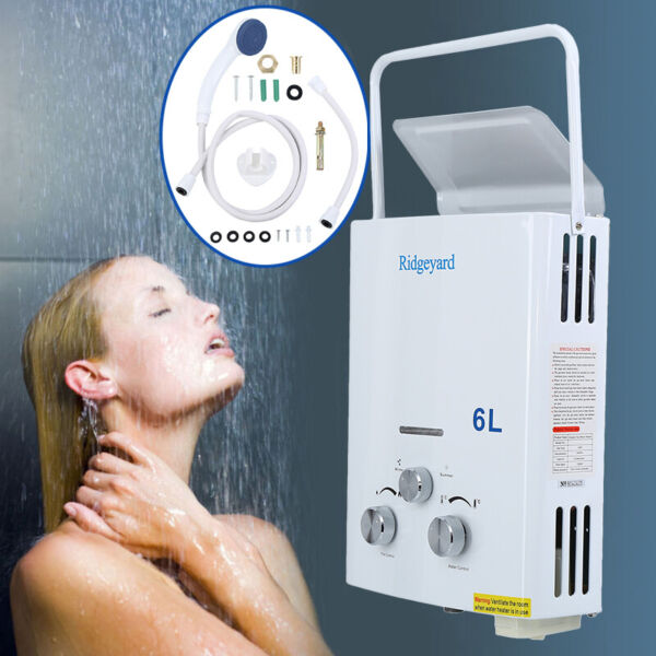 Portable 6L Hot Water Heater Tankless Instant Propane LPG Gas Boiler Outdoor $75.99