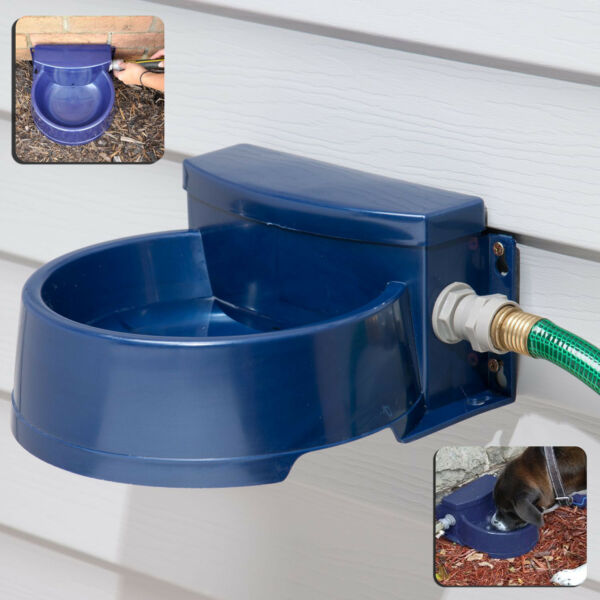 AUTOMATIC PET WATERER Dog Cat Outdoor Auto Water Dispenser Drinking Bowl Dish $48.10