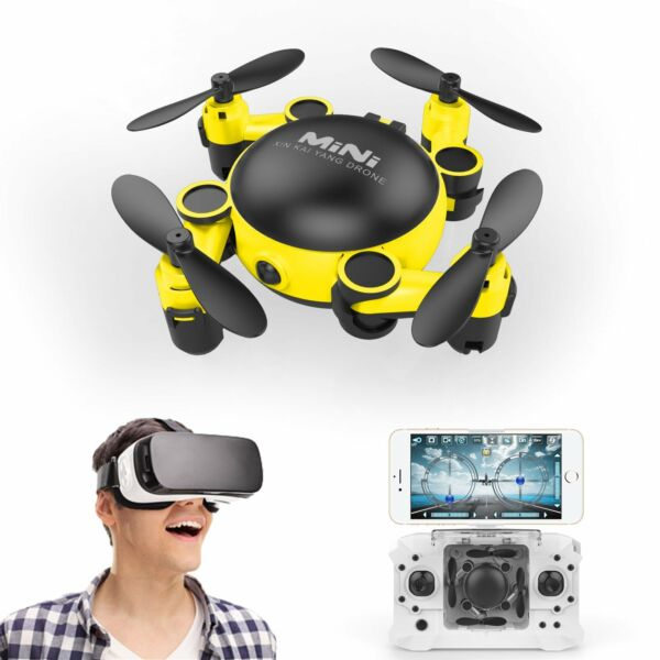 Foldable MINI WIFI Hover Camera WIFI FPV RC Quadcopter HD Selfie Drone RTF RC