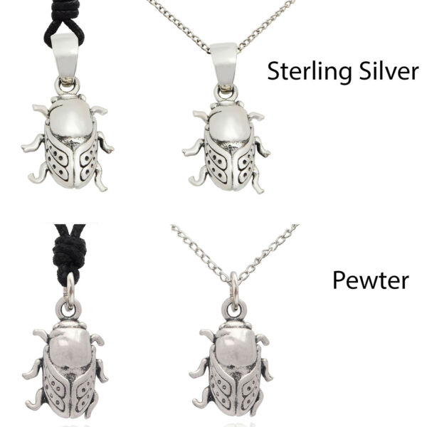 Lovely Cicada 92.5 Sterling Silver Pewter Brass Charm Necklace Pendant Jewelry