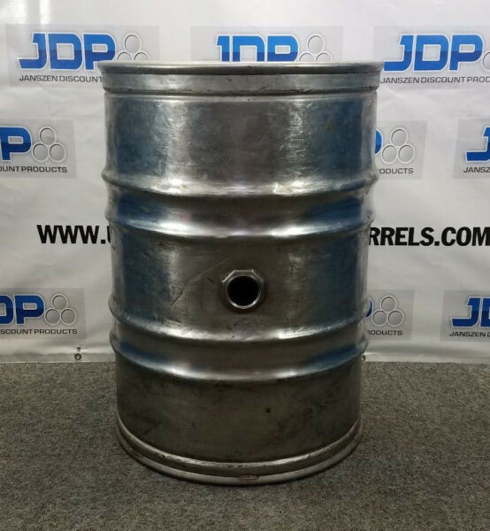 55 gallon stainless steel wine drum Used Closed Head with Side Bung opening $315.00