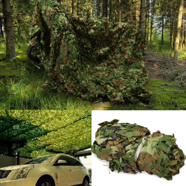 Woodland Leaves Military Camouflage Camo Netting Desert Forest Sunshade Hunting