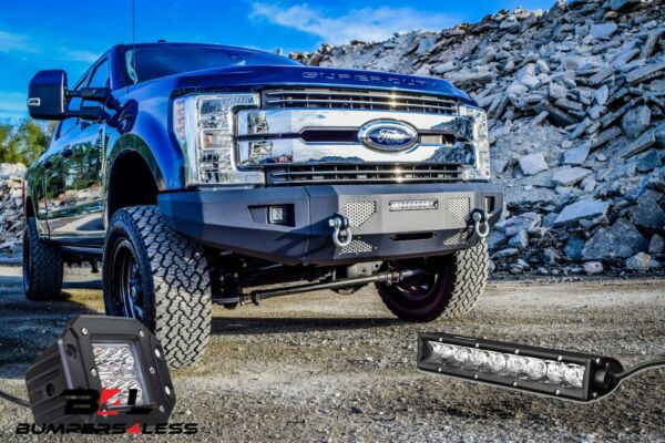 DV8 FBFF2-03 Front Bumper 3 Piece wLED Lights for 17-2019 Ford F-250350450