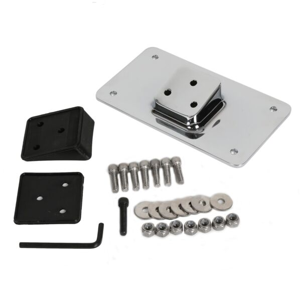 Laydown Chrome License Plate Mounting Bracket For Harley Sportster Dyna Softail $26.50