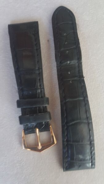 Patek Philippe 18k Rose Gold Tang Buckle 16mm & alligator strap 20mm Lug Width