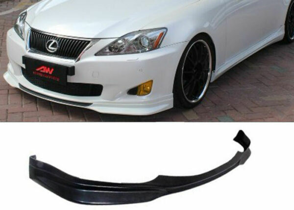 FOR 06 08 LEXUS IS250 IS350 SPORT PU BLACK POLY FRONT BUMPER LIP BODY KIT