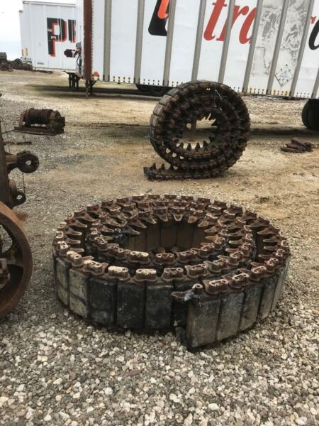 M4 Rubber Track for High Speed Tractor or Sherman Tank 1 Pair Used Wood Tiger $2695.00
