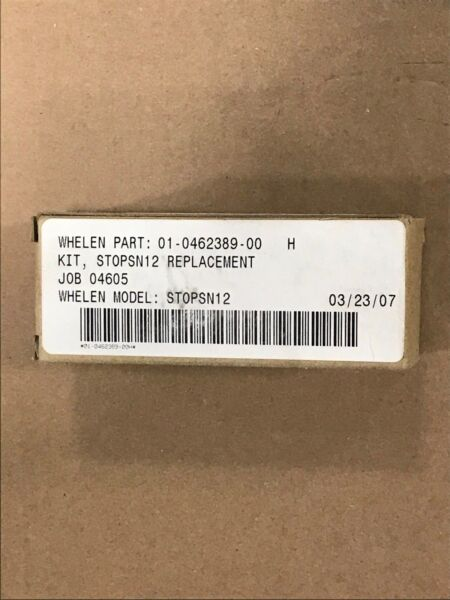 New Genuine Whelen Kit STOPSN12 Bulb Replacement 01 0462389 00
