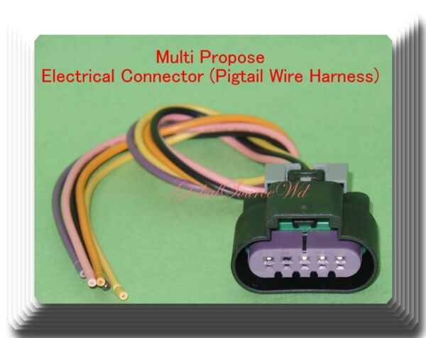 Multi Propose 5 Wires Electrical Connector Fits: General Motors Vehicles Hyundai