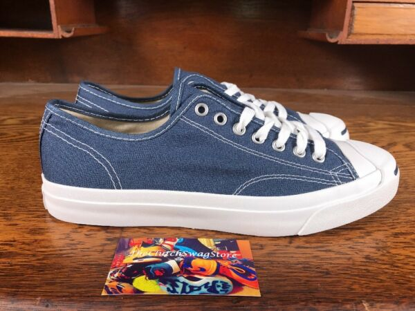 Converse Jack Purcell Canvas Ox Blue/White Mens Casual Sneaker 1Q811 NEW Sz 8.5