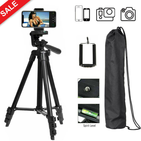 Professional Camera Tripod Phone Stand for iPhone Samsung Cell Phone DSLR Canon