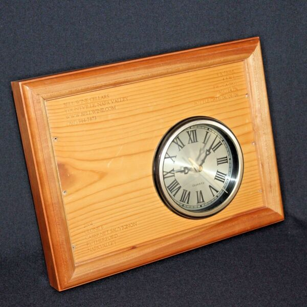 Bell Wine Cellars Box Art Clock Yountville Napa Valley Cabernet Sauvignon Signed