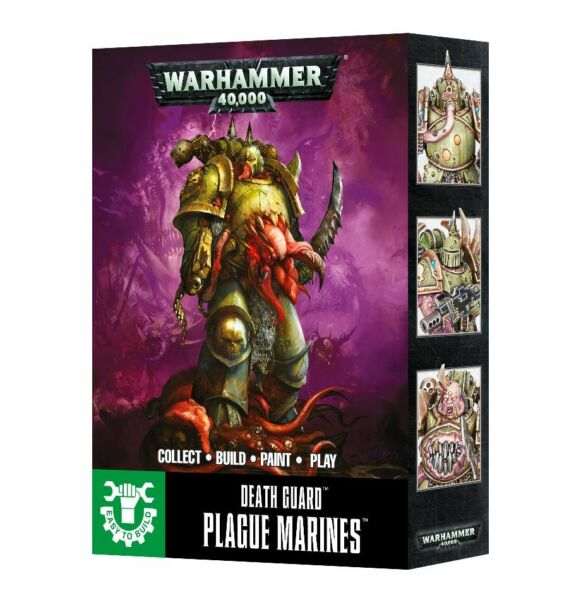 Easy to Build: Death Guard Plague Marines Chaos Warhammer 40K NIB Flipside