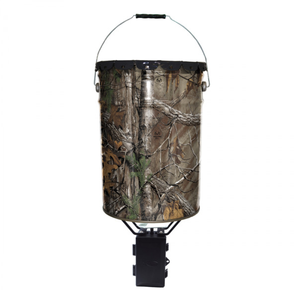 Wildgame Innovations Metal Pail Deer and Game Feeder 6.5 Gal Realtree APG Camo
