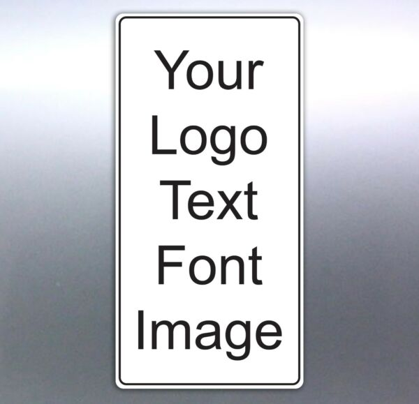Band gig stickers Portrait or landscape stickers Size rectangle logo sign custom