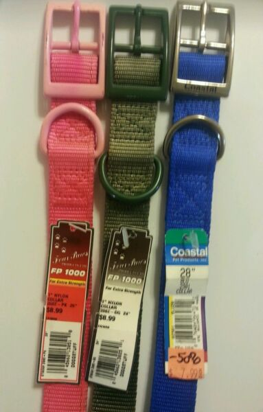 LARGE DOG BUCKLE COLLARS STRONG NYLON PICK COLOR AND SIZE NEW 50% OFF SALE $3.99