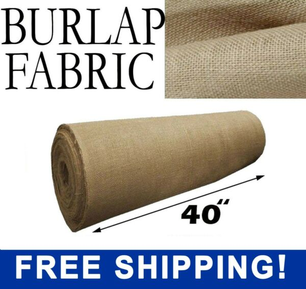 Burlap Fabric Natural 40quot; Wide Sold By The Yard Free Shipping
