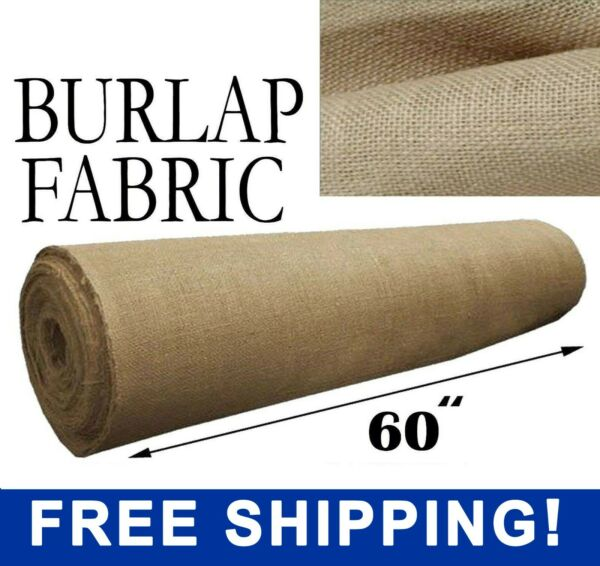 Burlap Fabric Natural 60quot; Wide Sold By The Yard Free Shipping