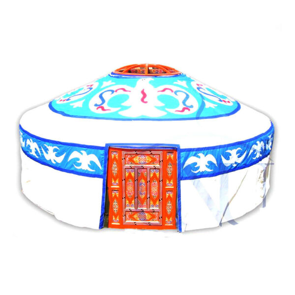 Mongolian Yurt Canvas Cover with Birds Pattern