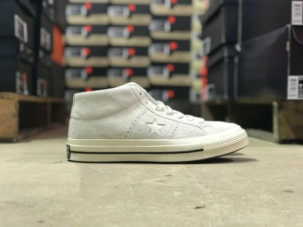 Converse One Star Mens Mid Vintage Off White Suede Shoe 157702C All Szs MSRP $90