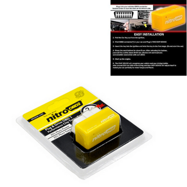 New ECU OBD2 Plug and Drive OBDII Performance Chip Tuning Box for Benzine Cars