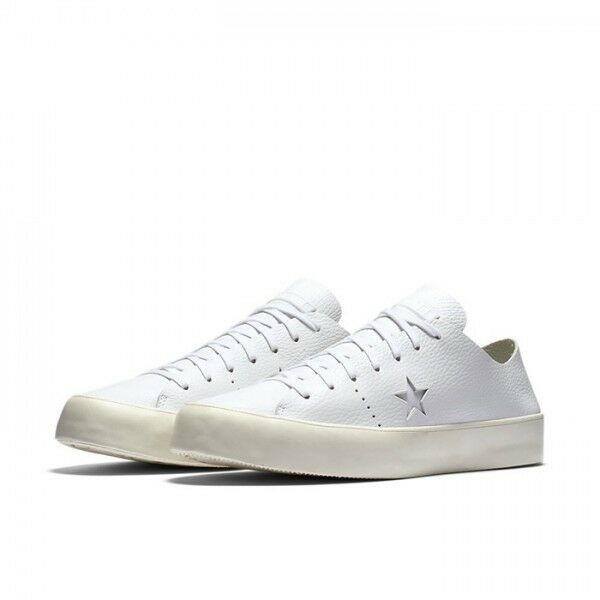 $125 Converse x NikeZoom Size 10 Leather One Star Prime OX Shoes White Skate New