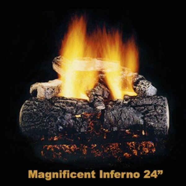 """Hargrove 24"""" Magnificent Inferno Vented Gas Log with Remote Control"""