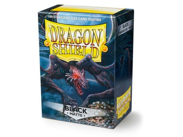 Matte Black 100 ct Dragon Shield Sleeves Standard Size FREE SHIPPING 10% OFF 2 $8.99