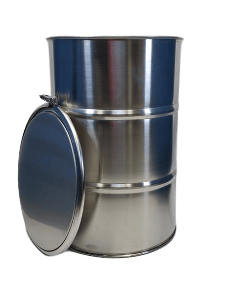 30 Gallon Stainless Steel Barrel Drum Open Top Lid Gasket and Bolt Lock NEW $309.00